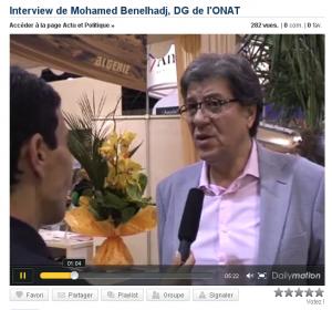 Mohamed Benelhadj ,Dg de l'ONAT